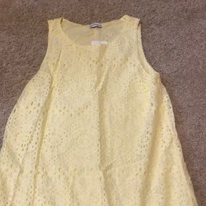 Dainty Hooligan Shift Dress Yellow Lace MEDIUM